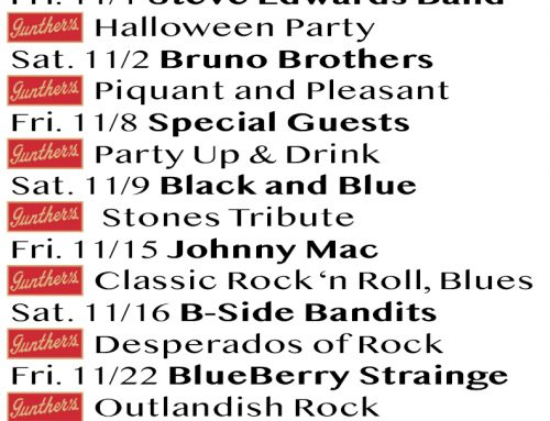 November 2019 Bands and Events @ Gunther's
