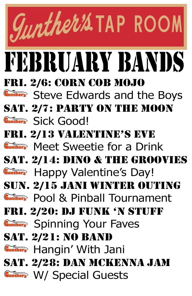 """""""Party On the Moon"""" Headlines February Live Music Schedule"""