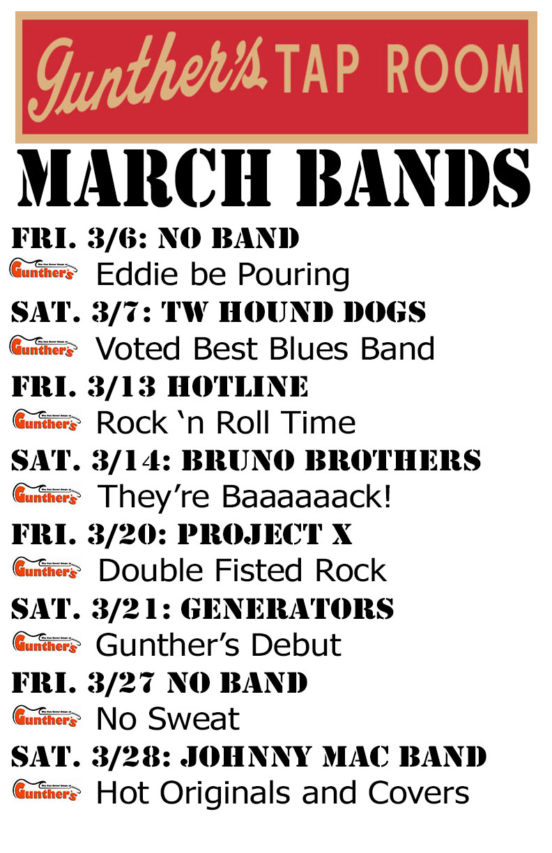 March 2015 Schedule and Events