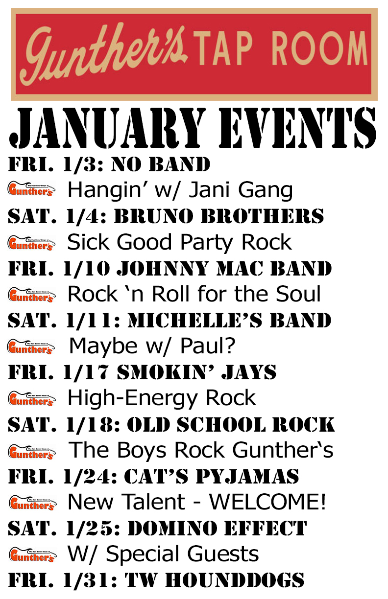 January 2020 Bands and Events