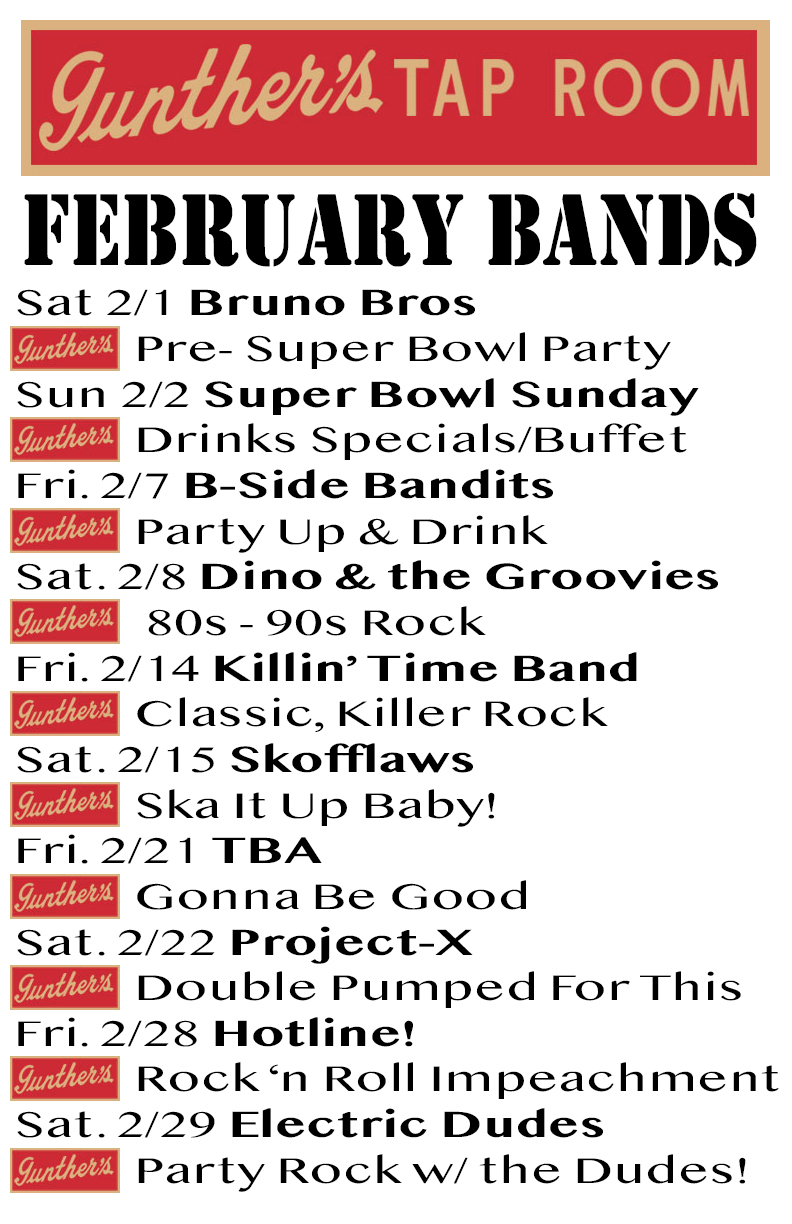 February 2020 Band and Events